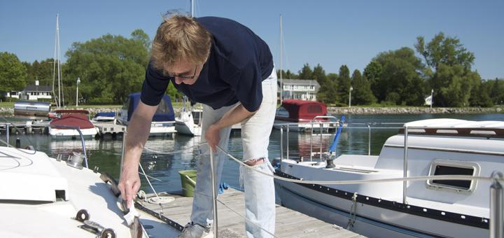 limpar o barco