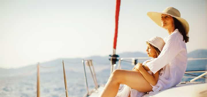 cuidados com crianças no barco